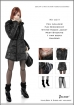 Female Winter Hoodie Jacket and Accessories Set