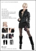 Female Fox-Fur-Collar Leather Jacket Set