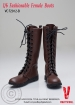 Female Boots, high, brown
