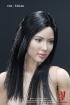 Female Body with Head - schwarze glatte Haare