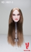 Kopf - glatte braune Haare