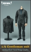 Dark Grey Gentelman Suit Set