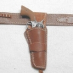 Doppel Holster für Colt .45 - red-brown leather