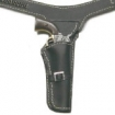 Single Holster - black leather