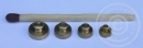 4 Gewichte für Handwaage - Messing