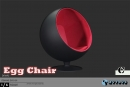 Ball Chair - black/red