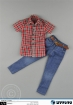 Checkered Shirt with Jeans and Belt