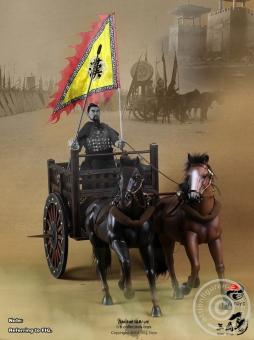 Chinesischer Streitwagen mit 2 Pferden