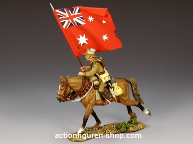 Mounted Australian Flagbearer w/ Red Ensign