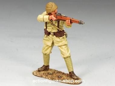 Turkish Soldier Standing Firing