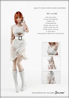 Female White Clothing Set