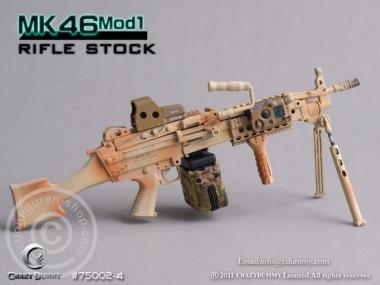 MK46MOD1-rifle stock - camouflage
