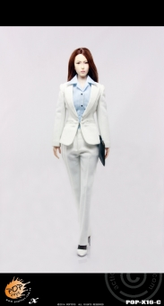 Female Elite Office Lady Suit 2.0 C - white