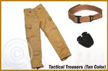 Cargo Hose mit Gürtel und Kniepolstern