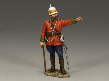 Standing Ludhiana Sikhs Regiment British Officer
