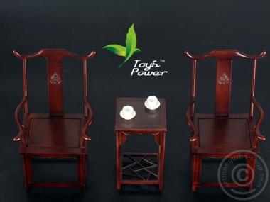 Möbel-Set: 1 Tisch + 2 Stühle