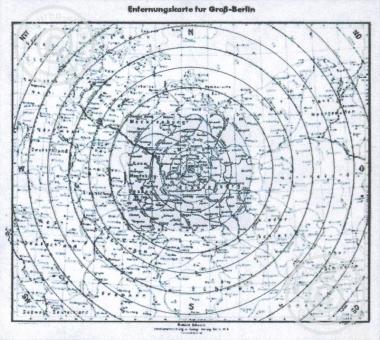 Landkarte Groß-Berlin WW II