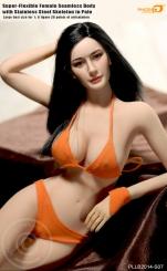 1//6 Female Mid Breast Super Flexible  Figure Model Pale  TBLeague//Phicen
