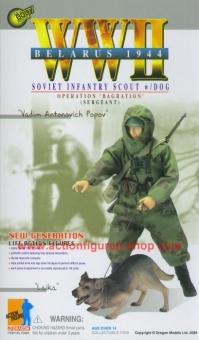 Vadim Antonovich Popov mit Laika