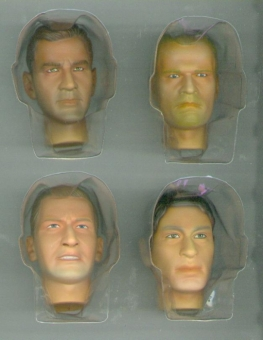 Actionfiguren Kopf Set 3