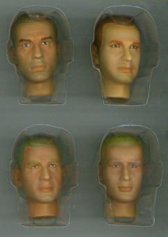 Actionfiguren Kopf Set 4