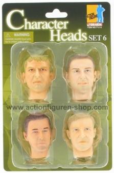 Actionfiguren Kopf Set 6