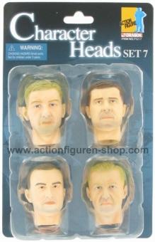 Actionfiguren Kopf Set 7