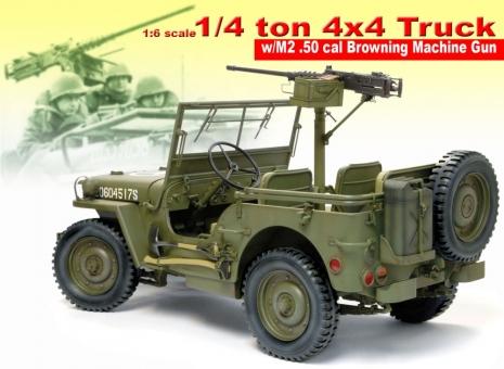 US Jeep 1/4 ton 4x4 Truck w/ M2. 50cal Browning MG