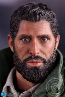 Arabischer Kopf mit Bart und Körper