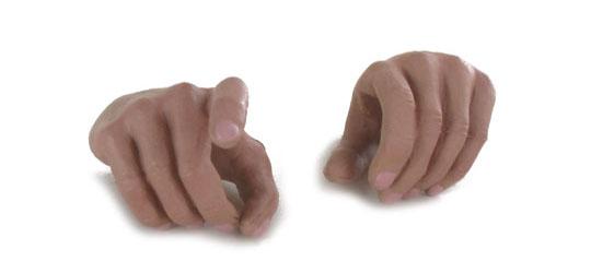 1 Pair Hands for DiD Bodys - gun