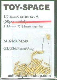 5,56 × 45 mm NATO Munitionshülsen (Metall - 50 Stück)