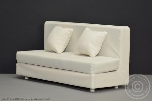 Sofa - weiß - für 1:6 Figuren