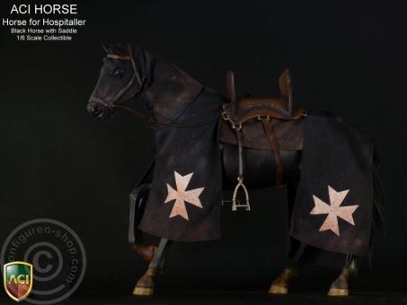 Pferd - Schwarz - für Hospitaller Ritter