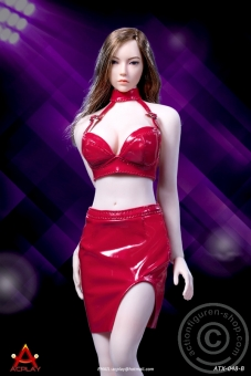 Sexy Lady Leather Suit - red