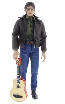 John Lennon w/ brown Leather Jacket