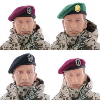 Bundeswehrsoldat Wüsten-Tarn - mit Barett
