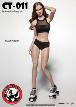 Fitness Female Clothing Set - schwarz