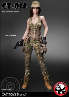 Female Military Character Set - Tan