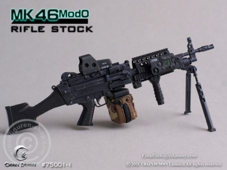 MK46MOD0-rifle stock - black