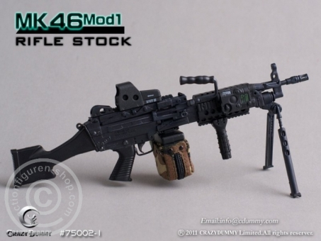 MK46MOD1-rifle stock - black