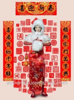 Chinese Female Cloth Set 1 - mit langem Top