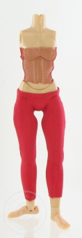 Leggings und Top in Rot