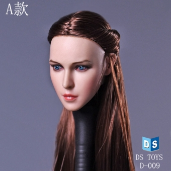 Female Head - long Brown Hair