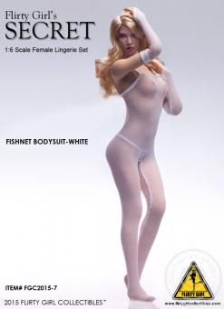 Fishnet Bodysuit Set - weiß