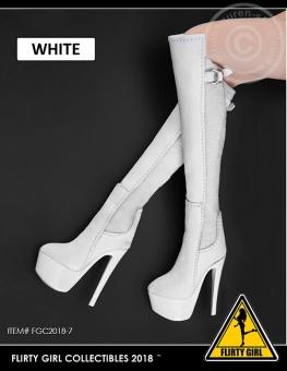 High Heel Boots - weiß