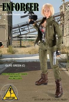 Enforcer - Female Olive Green Clothing Set