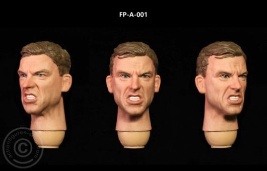 Kopf - männlich - weiß - wütend