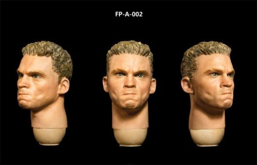 Kopf - weiß - braune Haare