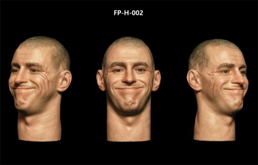 Kopf - männlich - weiß - fröhlich