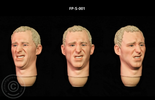Kopf - weiß - blonde Haare